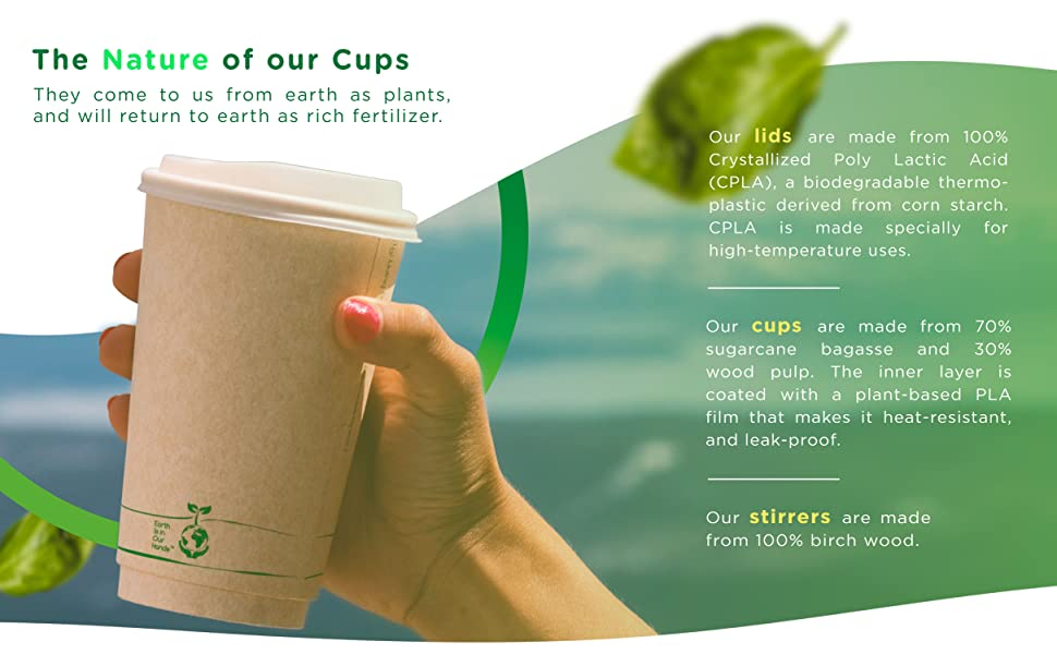 NTEGRATED SLEEVE DESIGN - Our BIOCUPS give you 2X more insulation capacity