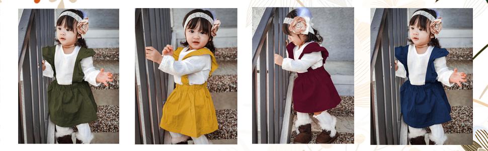 baby girl linen skirt set