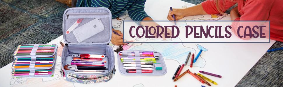 Teamoy Estuche para Lápices para 84 Lápices de Colores, Estuche Escolar de Gran Capacidad para Lapices Acuarelables(NO Lápices incluidos), Peonía: Amazon.es: Hogar