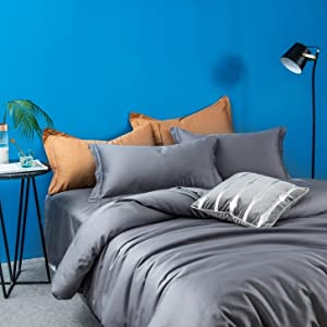 duvet cover gray