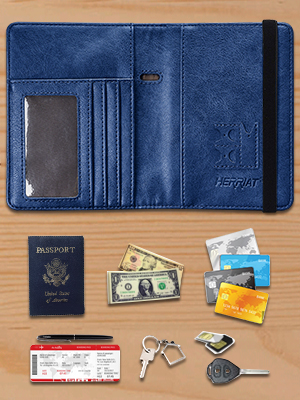 niumanery Portable Travel Passport Holder ID Credit Card Case Protector Cover Organizer