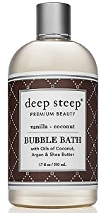 vanilla coconut deep steep bubble bath