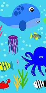Ocean Baby, Under the Sea, Baby Shark, Baby Fish, Aquarium toy, Baby Sea Toy, Ocean Baby, Taggies