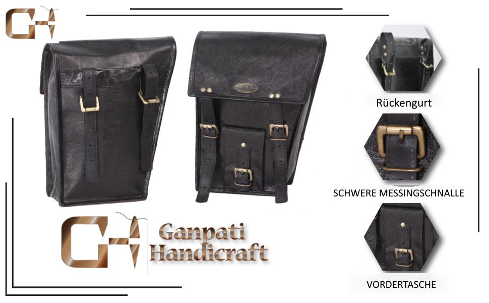 2 X Motorrad Schutzhülle Schwarz Leder Seitentasche Für Satteltaschen 2 Taschen Für Motorrad Fahrrad Auto