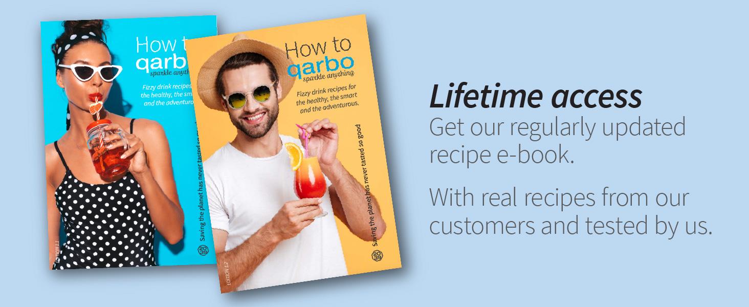 Lifetime access to recipe books