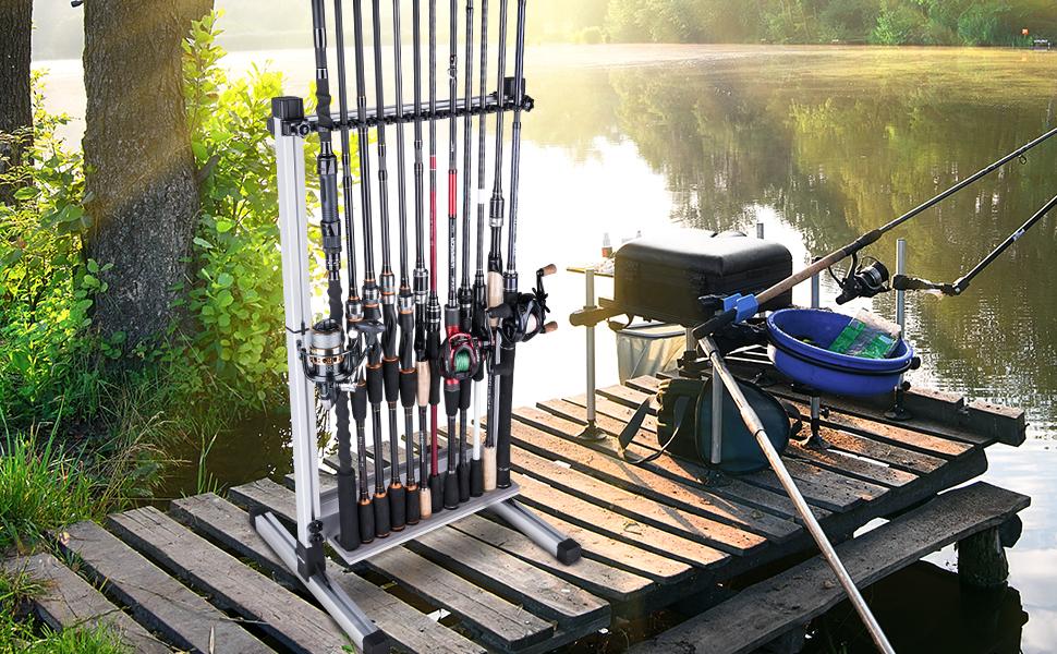 fishing rod rack rod holder