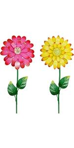 "25"" Flower Garden Stakes Decor"