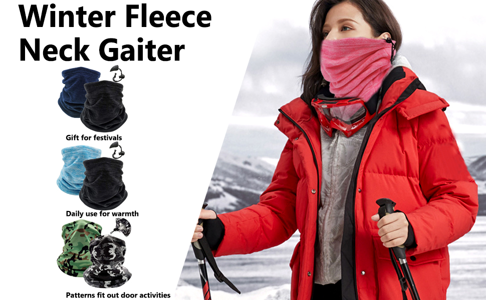 Winter Fleece neck gaiter warmer