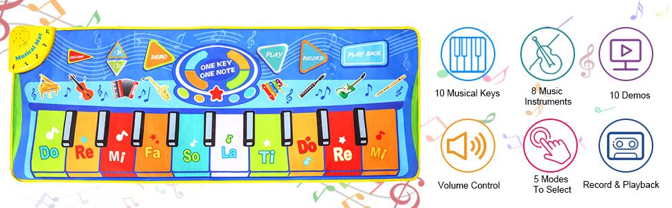 Kids Piano Mat