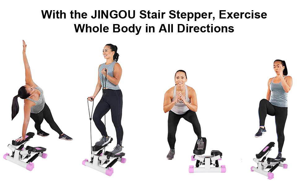 Stair Stepper with Resistance Bands