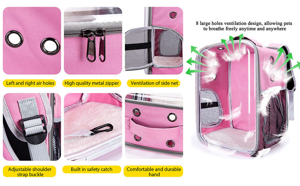 cat backpack carrier pink