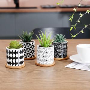 ceramic succulent pots