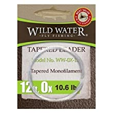 wild water fly fishing 12' 0X tapered monofilament leader
