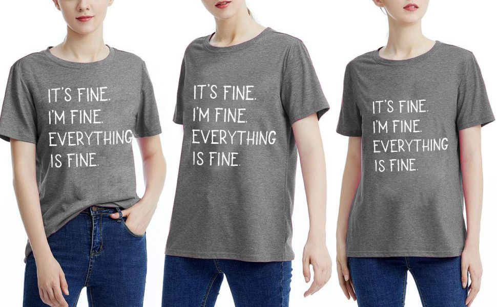 It/'s Fine I/'m Fine Everything Is Fine Introvert Shirt Funny Sarcastic Tank Funny Shirt Motivational Tank Top Sarcastic Quote Shirt