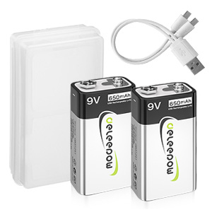 2 pack 9v batteries