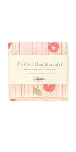 Nawrap Printed Handkerchief, Poppy