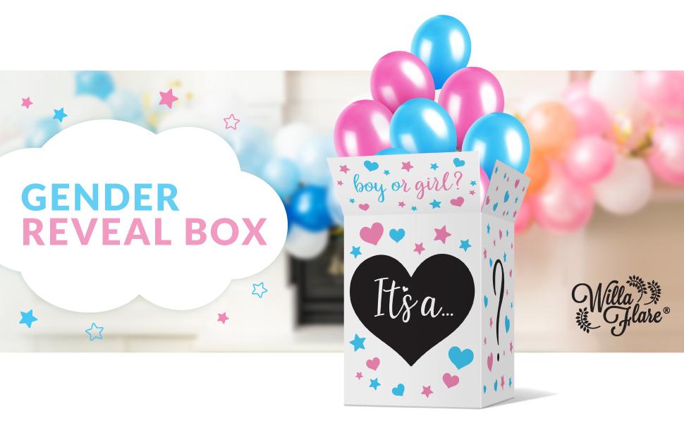 Christmas Gender Reveal Box Sign Gender Reveal Box Stickers Gender Reveal Box Decoration Gender Reveal Decor GingerBread He or She