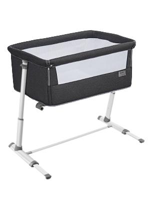 Bedside Sleeper - Baby Bassinet,RONBEI Bedside Sleeper,Baby Bed To Bed,Babies Crib Bed, Adjustable Portable Bed For Infant/Baby Boy/Baby Girl/Newborn (Dark Grey)