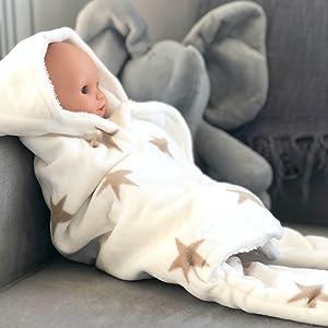 fleece pram blanket stroller bath towel hooded