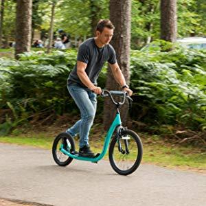 Osprey BMX Patinete scooter todoterreno, adultos y niños. 2 ruedas grandes, gran estabilidad en terreno irregular. Manillar ajustable, frenos. ...