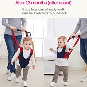 VOOADA Removable Baby Walker Assistant Toddler Leash Kids Walking Baby Belt Child