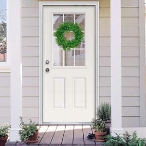 green boxwood wreath for front door decorative welcome front door wreath