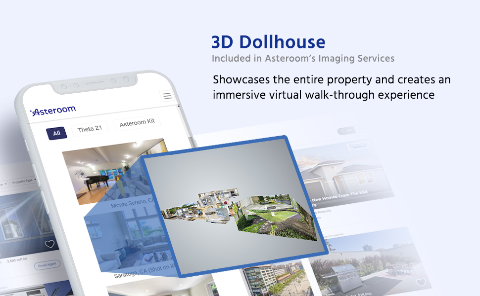 Asteroom 3-dimension dollhouse can display on desktop and mobile phone