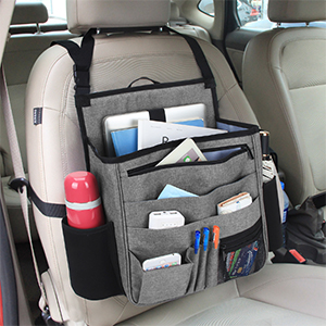 Luxja Auto Rücksitz Organizer Autositz Organizer Auto Aufbewahrung Rücksitz Vordersitz Organizer Mit Laptop Und Tabletten Lagerung Grau Auto