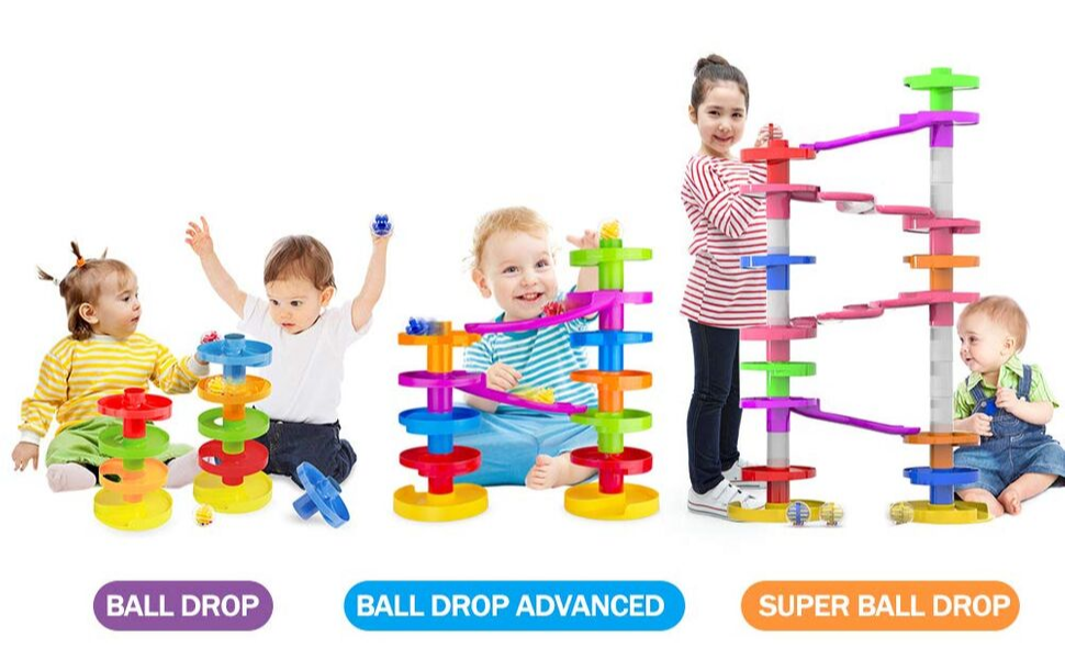 Activity Tier Ball Drop Baby Kids Play Learning Toy Set Roll and Swirl Ball