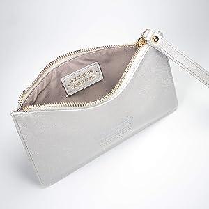 Clutch & Kosmetiktasche Farbe silber