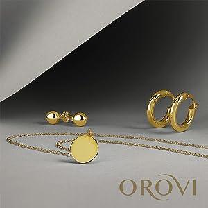 catenina d'oro ciondolo d'oro medaglia orecchini pendenti orecchini con pietre orecchini argento