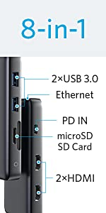 PowerExpand 8-in-1 USB-C PD メディア ハブ