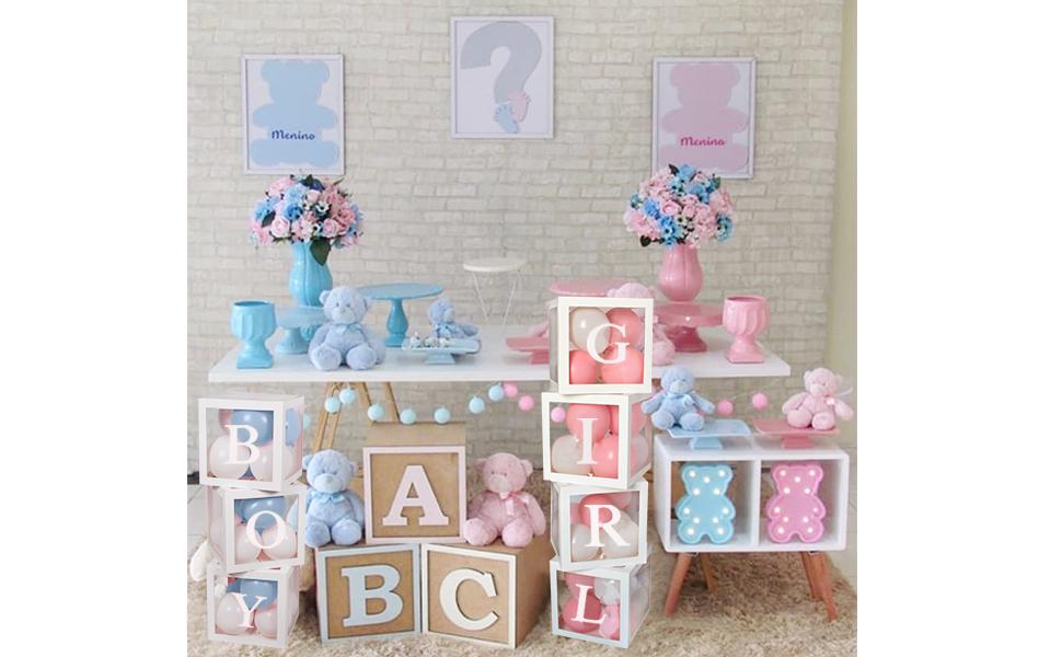 Gender reveal box decorations