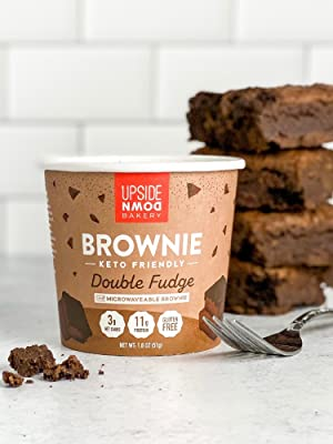 high protein brownie mix microwaveable cup low sugar and gluten free convenient on the go muffin