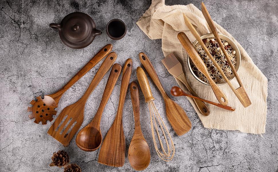 Kitchen Wooden Utensils for Cooking