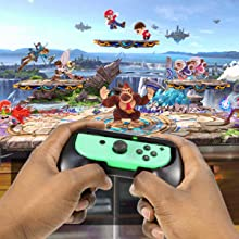 Orzly Ultimate party pack nintendo switch joy cons wheels grips rackets dance bands