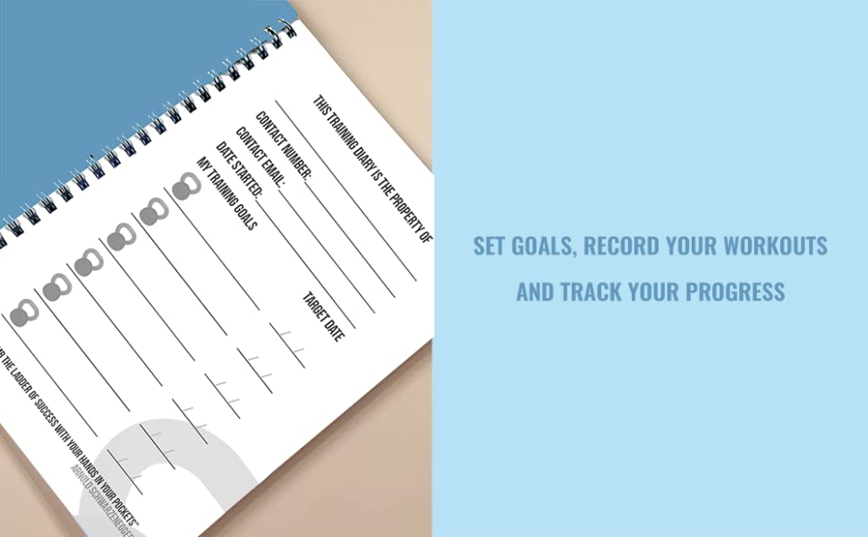 6 FITNESS GOALS TARGET DATE PHYSICAL GOAL CHIN UP ASSISTANCE EXERCISE PROGRAM AZURE BLUE DIARY