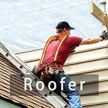 Roofer tool belt suspenders