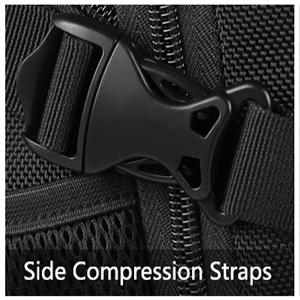 Adjustable shoulder straps with padding help relieve the stress from your shoulder.