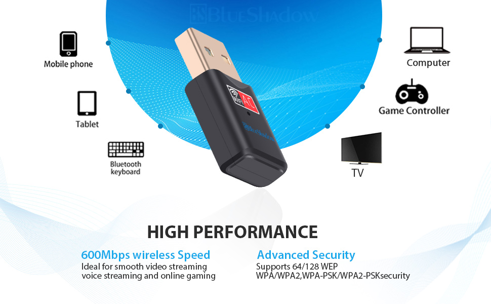 high performance usb wifi adapter 600mbps