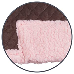 fleece underside and faux fur edging