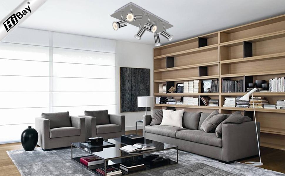 6 Way Adjustable GU10 Ceiling Spotlight Fitting