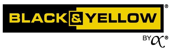 black amp; yellow, plastic, bins, boxes, totes, storage, organization, shelving, shelf, shelves