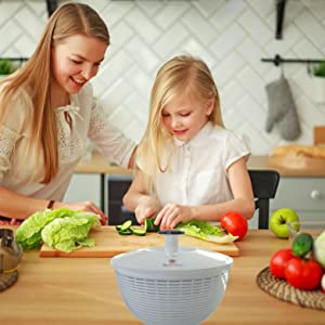 Brieftons QuickDry Salad Spinner - in kitchen