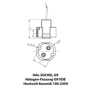 Technische skizze G9-fitting