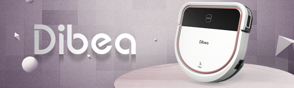 Dibea Robotic Vacuum Cleaner 2 in 1 Vacuuming and Mopping Robot D-Shape Design