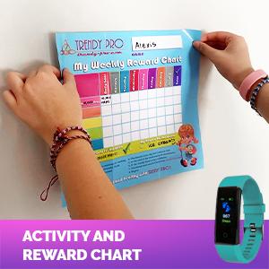Fitness Tracker Watch Kids Girls Boys Teens Activity Tracker Pedometer Heart Rate Sleep Waterproof