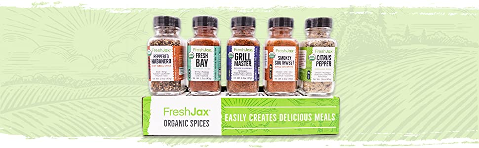 FreshJax Grilling Spices Gift Set