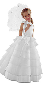 White, wedding, dress, formal, dressy, party, holiday, easter, communion