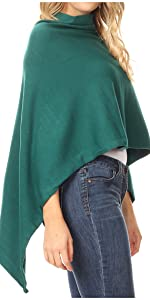 poncho cardigan unique soft everyday casual color solid lightweight simple versatile oversize nice